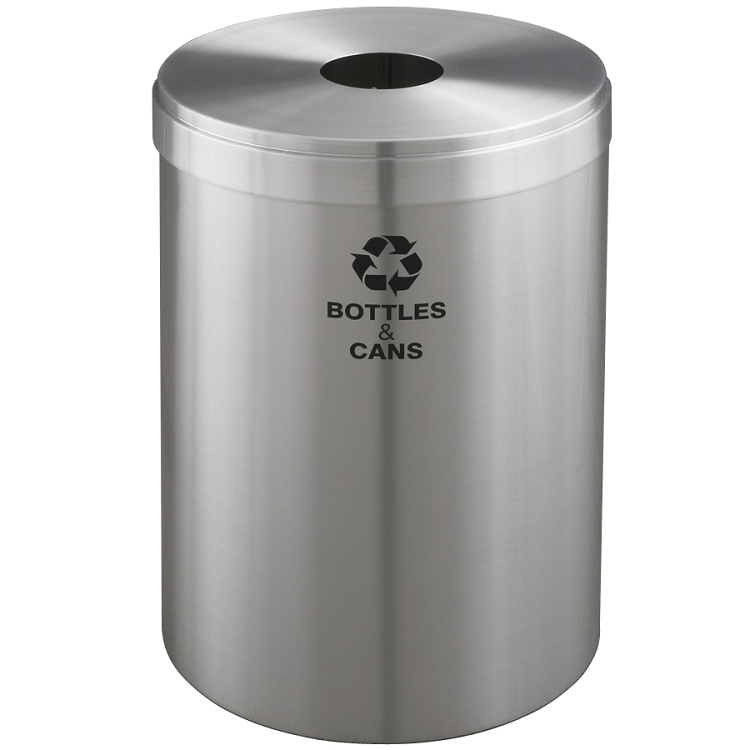 Aluminum Trash Cans : Value series gal aluminum waste recycling container