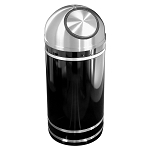 Monte Carlo Waste Receptacle with Self-Closing Dome-Top
