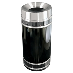 Monte Carlo Waste Receptacle with Funnel-Top 12, 16 or 33 Gallon