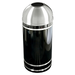 Monte Carlo Waste Receptacle with Open Dome-Top