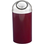 Mount Everest Waste Receptacle with Self-Closing Dome-Top, 12 Gal