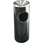 Mount Everest Ash/Trash Receptacle with Funnel-Top, 3 Gal