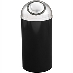 Mount Everest Waste Receptacle with Self-Closing Dome-Top, 16 Gal