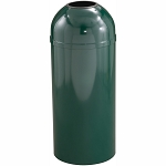 Mount Everest Waste Receptacle with Open Dome-Top, 8 Gal