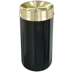 Mount Everest Waste Receptacle with Tip-Action Top, 33 Gal