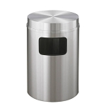 New Yorker Satin Aluminum 17 Gallon Waste Receptacle w/Flat Top
