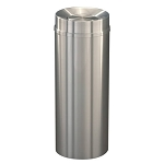 New Yorker Satin Aluminum 12 Gallon Waste Receptacle w/Tip Action Top