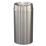 New Yorker Satin Aluminum 16 Gallon Waste Receptacle w/Tip Action Top