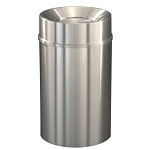 New Yorker Satin Aluminum 33 Gallon Waste Receptacle w/Tip Action Top