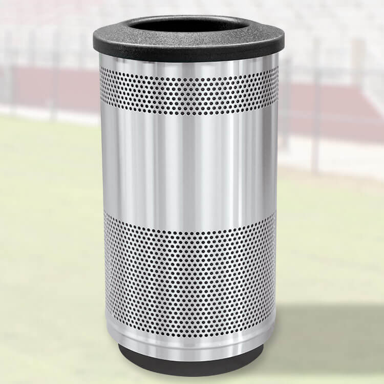 Perforated Steel Waste Basket 35 Gallon Metal Trash Can Trash Cans Warehouse