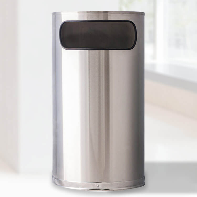 Stainless Steel Half Round Waste Container