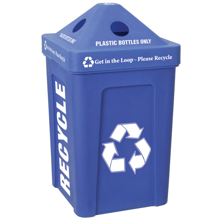 2 x 48 96 gallon recycle bin i outdoor station trash cans warehouse - Recycle containers for home use ...