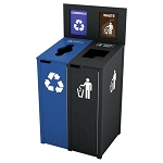 The Chesterfield Slim Double Recycling Station