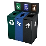 The Chesterfield Slim Triple Recycling Station