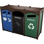 Dorset Sideload Slim Quadruple Recycling Container