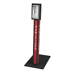 Sanitizer Stand w/ Stainless Steel Dispenser (Red Dot)