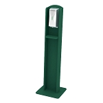 Nash Plastic Lumber Sanitizing Stand | Automatic Dispenser | Green