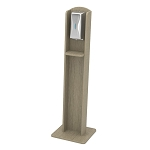 Nash Plastic Woodgrain Sanitizing Stand | Automatic Dispenser | Birchwood