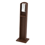 Nash Plastic Woodgrain Sanitizing Stand | Automatic Dispenser | Brazilian Walnut