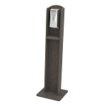Nash Plastic Woodgrain Sanitizing Stand | Automatic Dispenser | Coastal Gray