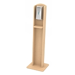 Nash Laminate Sanitizing Stand | Automatic Dispenser | Maple