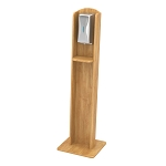Nash Hardwood Sanitizing Stand | Automatic Dispenser | Maple Honey