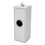 Slim Wipe & Waste Station in White