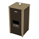 Sanitizing Wipe & Waste Station - 4 Gal - Brown/Tan