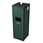 Sanitizing Wipe & Waste Station - 10 Gal - Green/Black