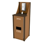 4 Gallon Welcome Station w/Stainless Steel Dispenser - Caramel/Brown
