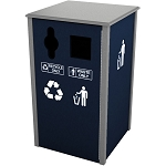 Keene Sideload Slim Double Recycling Container