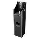 10 Gallon Welcome Station w/Stainless Steel Dispenser - Black/Gray