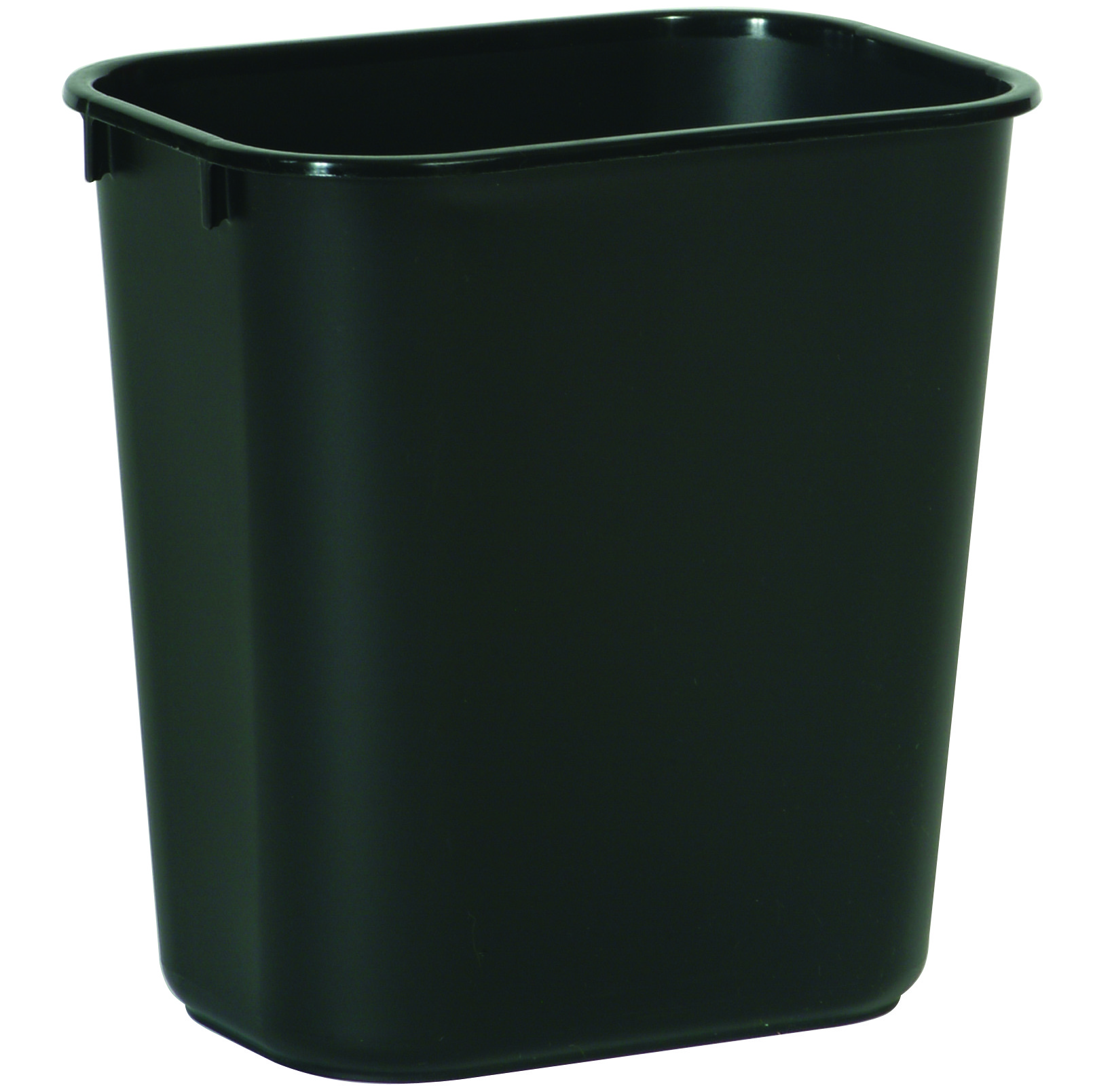 small wastebasket in black - Rubbermaid Garbage Cans