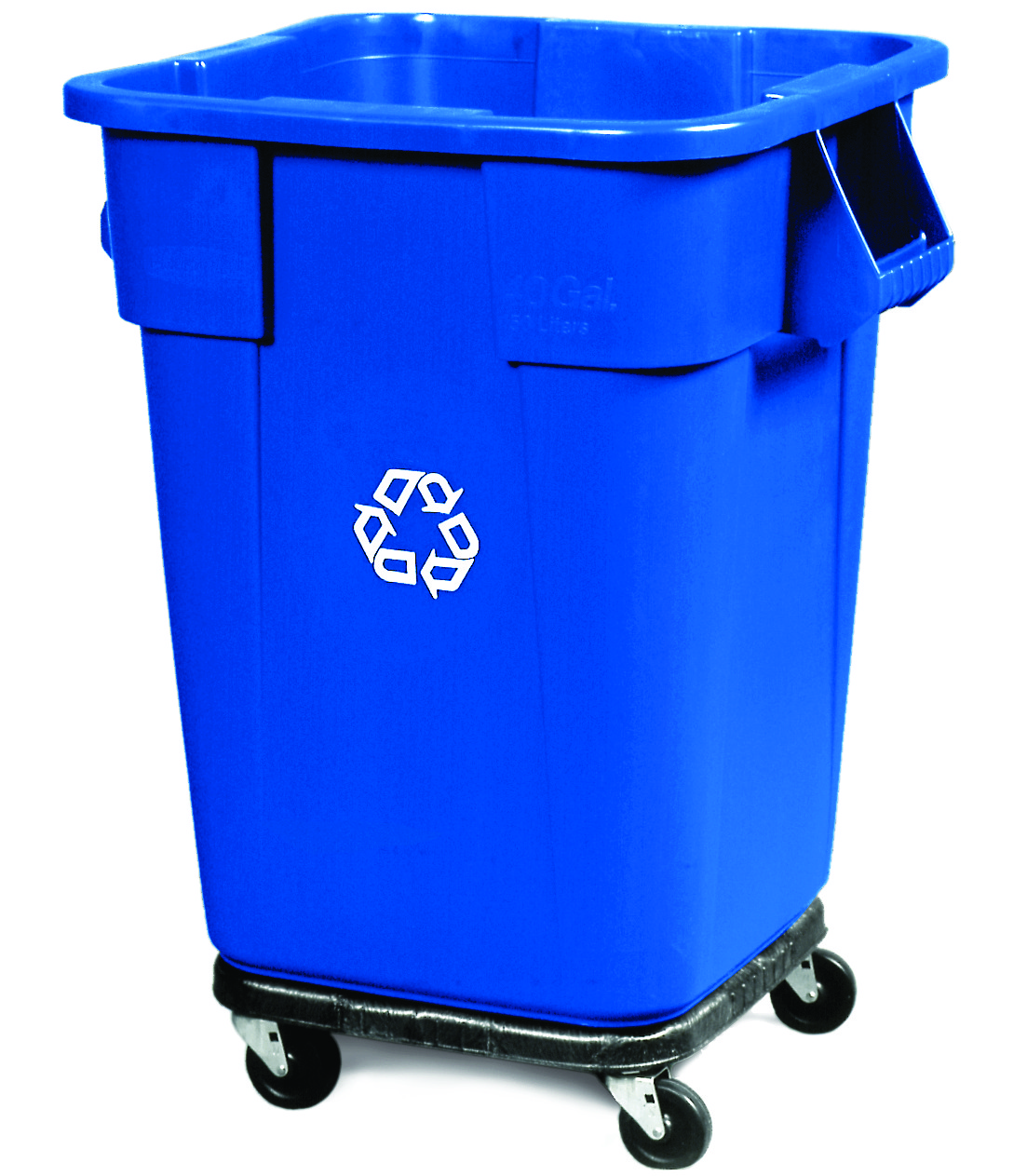 Rubbermaid 40-Gallon BRUTE Square Blue Recycling Container ...