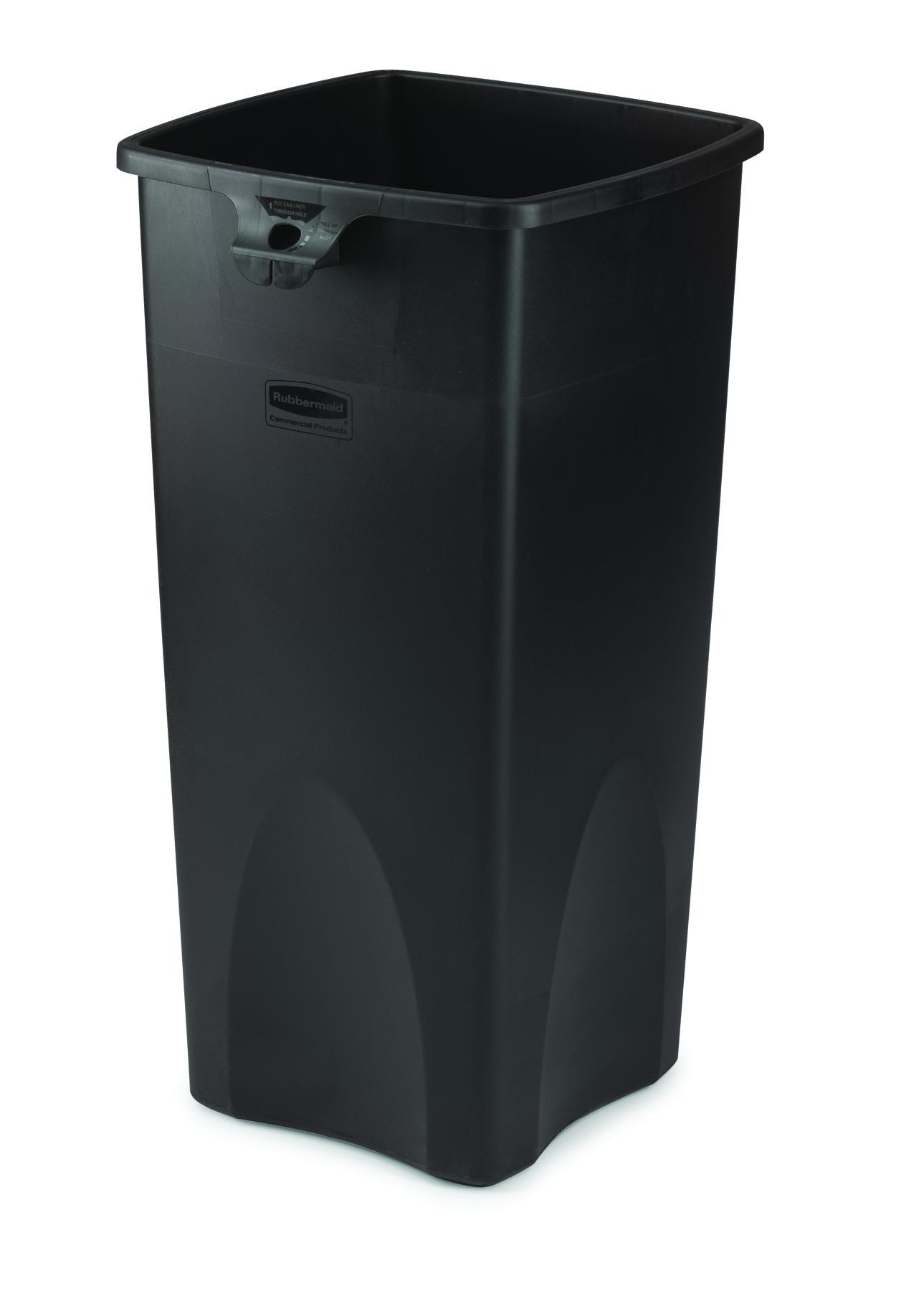 23 gallon untouchable square trash container trashcans warehouse - Gallon bucket garden container ...