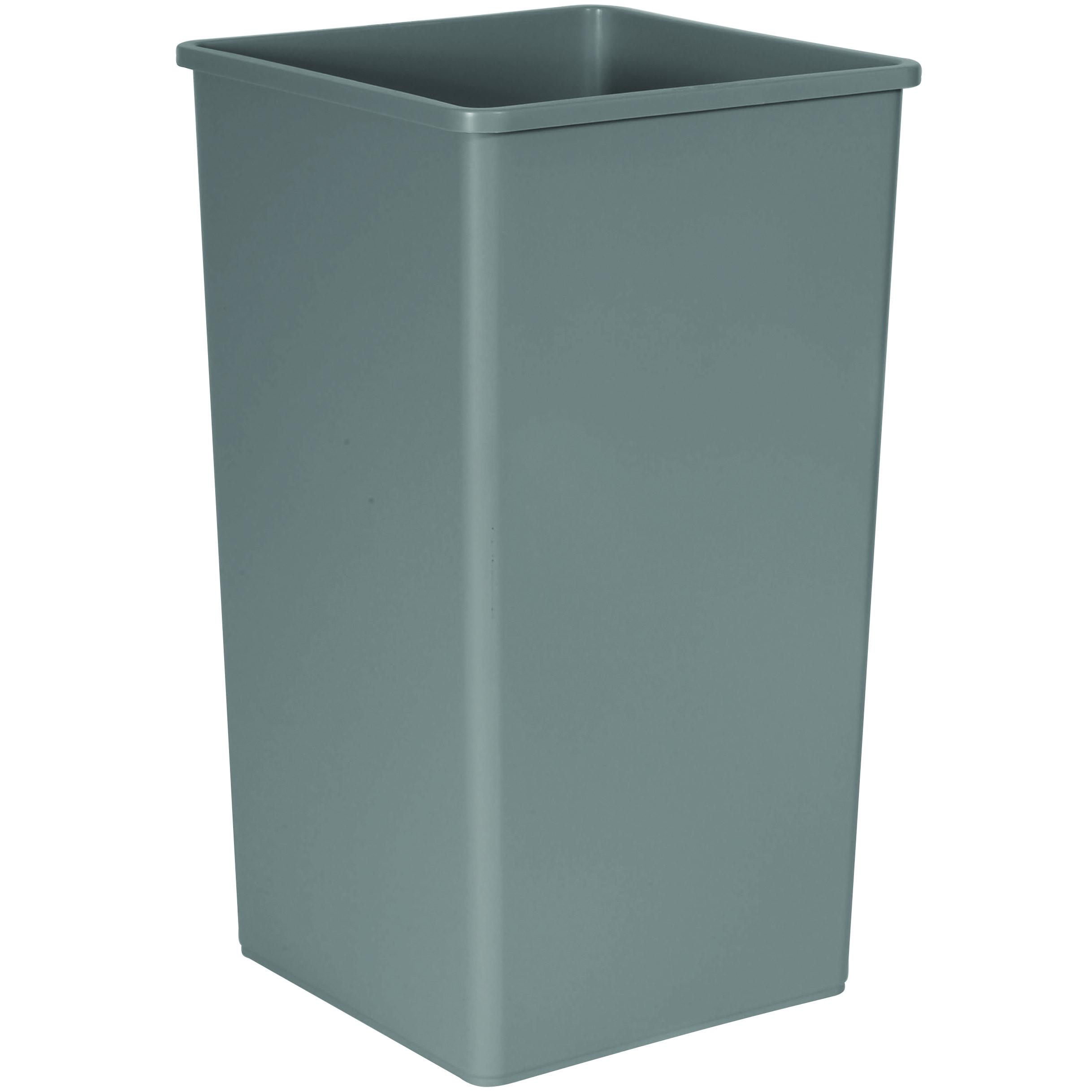 50 Gallon Untouchable Square Trash Container Trashcans