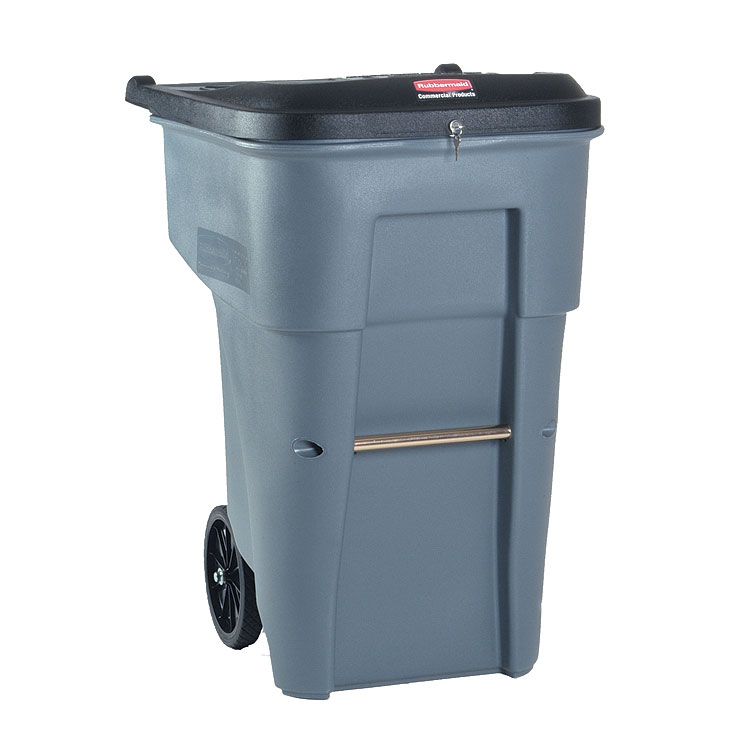 65 Gallon Secure Document Rollout Container Trashcans