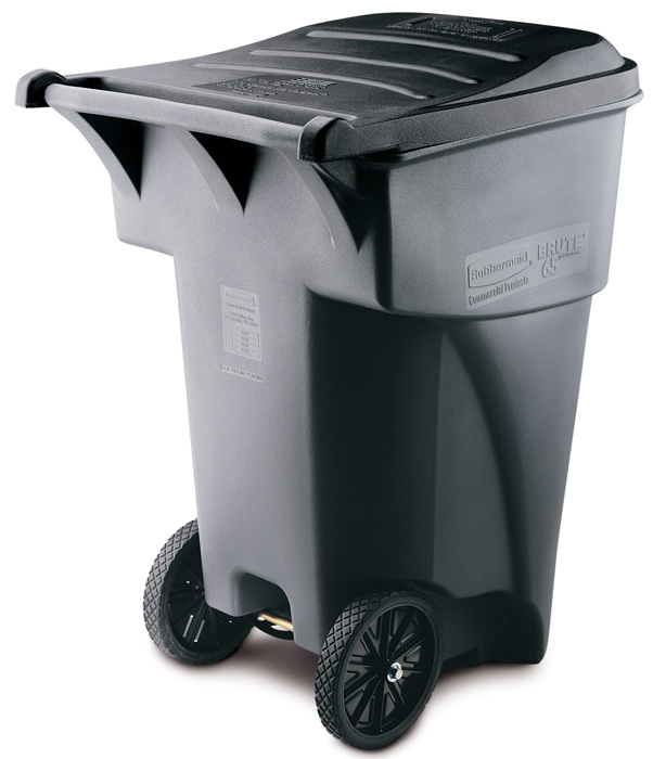 95 Gallon Trash Can Heavy Duty Wheeled Trash Can Trash Cans