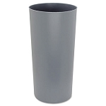 Rigid Liner, Cylindrical, Plastic, 12 1/8 gal, Gray