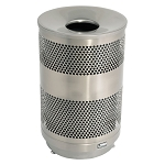 33 Gallon Outdoor Decorative Perforated Metal Container