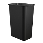 10 Gallon Desk-side Plastic Resin Waste Bin (12 Pack)