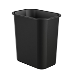 3 Gallon Desk-side Plastic Resin Waste Bin (12 Pack)