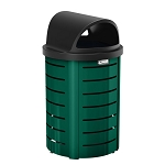 35-Gallon Metal Trash Can with Roto Molded Lid