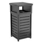 30 Gallon Metal Square Trash Can with 2-Way Lid