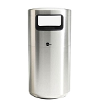 Cleanline Tray Top 39 Gallon Stainless Steel Trash Can