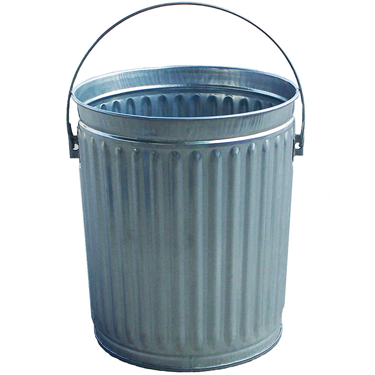 Small outdoor metal trash can with lid dome top u0026 flat top trash can lids for kolor can - Small trash can with lid ...