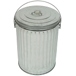 10 Gallon Galvanized Trash Can with Lid