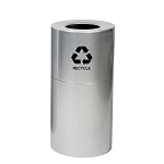 24 Gallon Aluminum Receptacle with Plastic Liner