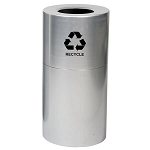 35 Gallon Aluminum Receptacle with Plastic Liner