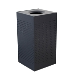 Celestial Square Trash Container in Matte Black
